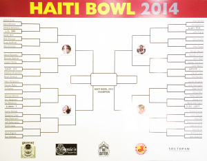 Poster of the Haiti Bowl 2014 tournament bracket.