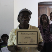 Newly trained matrone, Rose-Marie, was so proud as she received her certificate.