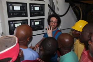 Dave Dunnet explaining generator controls