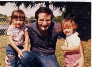 Dad with Sandy and her sister Kelly