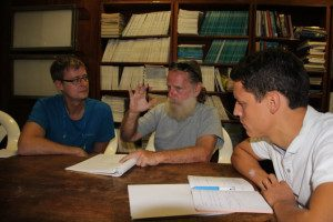 Kick off meeting: Steffen Heinrich, Qinous Jimmie Tinsley HAS and Marc Baetschmann