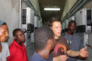 Marc Baetschmann teaching at solar inverter room