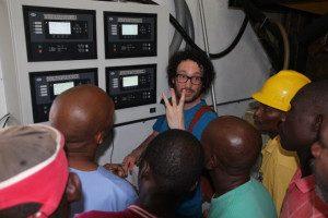 Dave Dunnet explaining generator controls